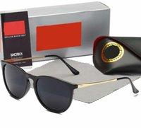 2021 Moda Güneş Gözlüğü Gözlük Güneş Gözlükleri Tasarımcı Erkek Bayan Kahverengi Kılıflar Siyah Metal Çerçeve Koyu 50mm Lensler 4171