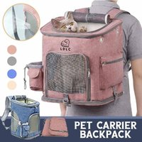 Cat Carriers,Crates & Houses Dog Bag Breathable Backpack Large Capacity Carrying Portable Outdoor Travel See Through Pet Z0311