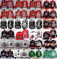 "Chicago Blackhawks Jersey Hokey 29 Marc-Andre Fleury 2 Duncan Keith 19 Jonathan Theews Patrick Kane Crawford Alex Debrockat Retro ""NHL"" Formalar"