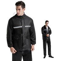 Raincoats Rainstorm-proof Adult Men's Raincoat Suit Riding Motorcycle Electric Bike Reflective Rain Pants Split