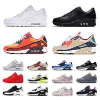 90 Erkek Koşu Ayakkabıları Üniversitesi Mavi Üç Kişilik Beyaz Siyah Kırmızı UNC Serin Gri Ultramarin Ultra 2.0 Temel Kızılötesi 90 S Erkek Kadın Eğitmenler Spor Sneakers