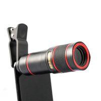 Clip-on 14x zoom óptico câmera telescópio telescópio 4K HD telefone celular telescópio telephoto lente para celular universal