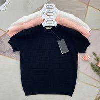2021 여성 S 니트 티셔츠 럭셔리 디자이너 여성 스웨터 폴로 티셔츠 O 넥 점퍼 풀오버 짧은 소매 봄 여름 캐주얼 옷