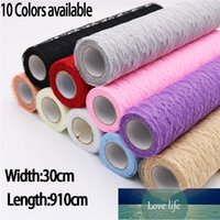 Runner Lace Roll Organza Spool Fabric Ribbon 30*910cm Netting DIY Wedding Event Party Chair Sash Bow Table Decoration