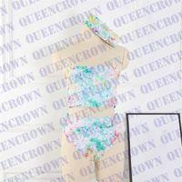 Traje de baño para mujer de verano 3 PCS Conjunto con diadema de mangas Sujetador Sujetador Bikinis traje de vacaciones de vacaciones al aire libre Traje de baño