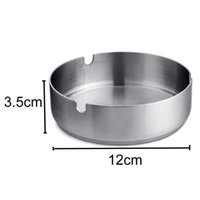 Creative Home Sundry Bar Circular Thickened 12*3.5cm Stainless Steel Hotel Restaurant Durable Ashtray