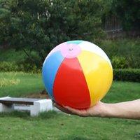 Toptan Renkli Baskılı Şişme Plaj Topu PVC Su Sporları Promosyon Oyunu Yüzer Oyuncak PVC Hava Yüzme Havuzu Topu Çocuk Oyuncak