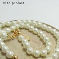 Collana di orbita orbita del pendente della collana della catena della perla delle donne per la collana del pendente per il partito del regalo Accessori di gioielli di moda di alta qualità