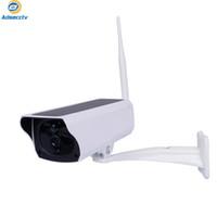 IP WIFI الطاقة الشمسية المزعجة كاميرا للماء شريعة 18650 بطارية دعم المراقبة كاميرا للرؤية الليلية كاميرا مراقبة الفيديو
