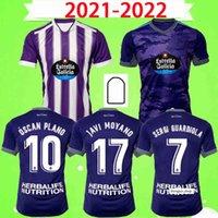 2021 2022 Real Valladolid Soccer Jersey Home Alew White Purple Tercero Fede S. R. Alcaraz Sergi Guardiola Óscar Plano Camisetas de Fútbol