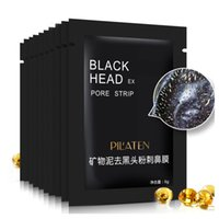 12.000 adet / grup Pilaten Yüz Bakımı Yüz Mineralleri Conk Burun Siyah Nokta Remover Maske Gözenek Temizleyici Derin Temizlik Siyah Kafa Ex Gözenek Şeridi