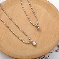 Magnet Attraction Stainless Steel Pendant Couple Necklace Long Distance Steel Chain Necklaces For Women Men Jewelry 2936 Q2