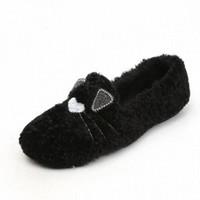 2020 Otoño e invierno Dibujos animados de invierno Cálido Cálido Zapatos Femenino Casual Wild Plus Velvet Plus Tamaño Zapatos planos Zapatos Ladies Mocasines para mí M82E #