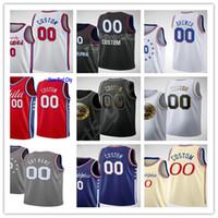 Hombres personalizados 2021 Impreso Joel 21 Embiid Ben 25 Simmons Tobias 12 Harris Dwight 39 Howard Seth 30 curry hombres mujer niños baloncesto jerseys