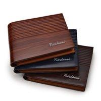 Wallets PU Men's Wallet Retro Leather Short Horizontal Multi-Card Luxury Fashion Pure Color
