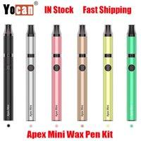 Oryginalny Yocan Apex Mini Wax Pen Kit E-Paperos 380mAh Vape Battery Vaporizer Ogrzewanie 510 Box Box Mod QDC Cewka z ładowaniem Micro USB 100% autentyczne