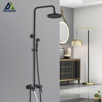 "ORB Bath Faucet Set 8"" Rainfall Shower Head Luxury Oil Rubbed Bronze 3-way Mixer Tap"