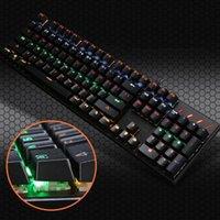 키보드 K10 녹색 축 Mechanical 키보드 104 키 RGB 조명 노트북 데스크탑 게임 게임