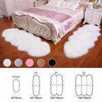Carpets Soft Sheepskin Carpet Rugs For Home Bedroom Living Room Warm Floor Mat Pad Skin Fur Mats Faux