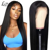 Lace Wigs Black Human Hair Free Part 13x4 Front Wig Brazilian Remy Closure Pre Plucked Bleached Knots With Baby