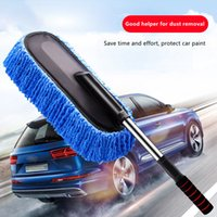 Car Wash Solutions Automotive supplies Retractable nanofiber wax mop dust removal, cars mop, no damage to paint, vehicle cleaning tools