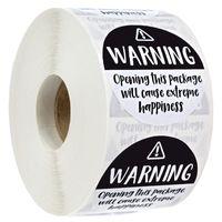 500 stücke 1.5 Zinch Roll-Paket Warnung Glück Schiff Klebstoff Aufkleber Business Hochzeit Geburtstag Backen Geschenkbox Dekor Etikett