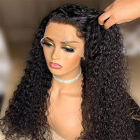 Indian Curly Lace Front Wigs Human Hair For Black Women Deep Wave 4x4 Glueless Closure Wig Prelucked Hairline