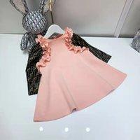 아기 소녀 옷 겨울 드레스 핑크 아이 패션 파티 복장 100-10 cm 면화 소재 디자이너 소녀 옷 드레스