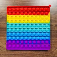40CM Super Large Size Rainbow Push Bubble Huge Decompression Fidget Toys Adults Kids Anti Stress Reliever Board Games