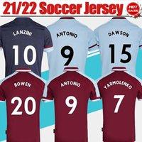 2021 2022 # 9 Antonio Ana Sayfa Kırmızı Futbol Forması # 41 Pirinç # 20 Bowen # 15 Dawson Away Mavi Futbol Gömlek 21/22 Batı # 10 Lanzini # 16 Noble 3rd Futbol Gömlek Üniformaları Erkekler Yetişkin