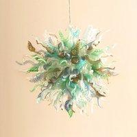 Energiesparende Kronleuchter Lampen Dekorative LED Hand Geblasene Kronleuchter für Wohnzimmerdekor Warmweiß Multi Farbige Lampe