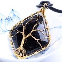 Natural Crystal Quartz Healing Point Chakra Bead Gemstone Necklace Pendant