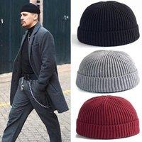 Topu Kapaklar 25 # Moda Unisex Sıcak Kış Tutmak Rahat Örme Şapka Yün Hemming Kayak Skullcap Isıtıcı Beanies