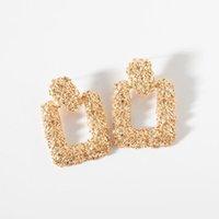 Stud Big Vintage Boucles d'oreilles pour femmes Gold Color Poste Géométrique Boucle d'oreille 2021 Métal Bijoux Hanging Bijoux Tendance Néoglory