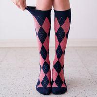 Socks for Women Cotton Long Socks Lattice Hip Hop Harajuku Autumn Winter Funny Socks Ladies Warm Women's Sox Meias 2021