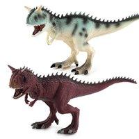 Big Carnotaurus Jurassic World Park Dinosaurios Toy Soft PVC Figuras Pintado a mano Modelo de animales Juguetes para niños Niños Regalo de Navidad