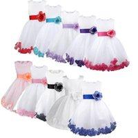 Vestidos de niña niños niñas infantiles Pétalos de flor Vestidos Boda Formal Vestido Vestido Bola Vestido Muchacha Niño Princesa