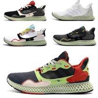 Triple Bianco e Bianco Mens ZX 4000 Futurecraft Shoes Shoes Trainer per uomo ZX4000 Carbon Maschio Sport Sports Trainer Sneakers 40-45
