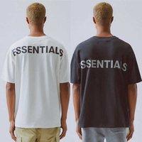 2021 Хип-хоп 6-й страх Бога Основные основания 3M Светоотражающий Tee Skateboard Cool Tshirt Туман Мужчины Женщины Хлопок с коротким рукавом Повседневная футболка