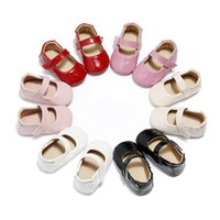 First Walkers 0-18M Born Baby Girls Soft Sole PU Crib Shoes Girl Anti-slip Sneakers Princess