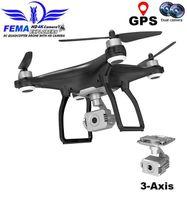 Vimillo New Drone 4kprofessionelle Gimbal Drohne GPS mit 3-Achs-Kamera 5g Wifi FPV Langstrecken-Brushless RC-Quadkopter DRON X351