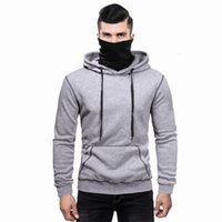 hoodie Autumn and winter men's personalized casual hooded sweater coat mask T-shirt