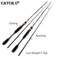 Catch.u caña de pescar Giro de caña de fundición S1.8m m Potencia 7-25 g Prueba 100% de fibra de carbono Polo de señuelo