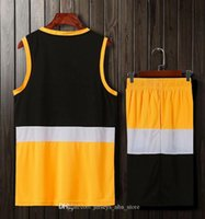Men blank double-sided basketball team Uniforms kits Sports clothes tracksuits Personality Customized Basketball Sets tops With Shorts 25-19