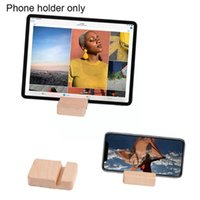 Cell Phone Mounts & Holders Universal Mobile Double Slot Wood Bracket For Desktop Stand IPad Holder AccessoriesTel H6G5