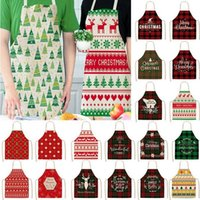 Christmas Decorations Linen Merry Apron Home Kitchen Accessories Ornaments 2021 Year Gifts#