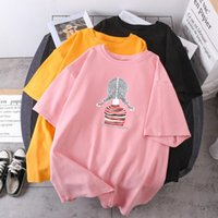 Women's T-Shirt A Pretty Girl T-shirts Print Woman Summer Oversize Lady Fashion Hip Hop Clothing 2021 High Quality Tees Casual Camisetas