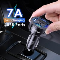 Universal USB Charger Quick Charge 3.0 Fast Car Charging In 4USB Port Mobile Phone adapter Suitable for 12V-24V SUV off-road truck