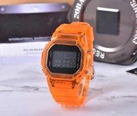5600 뜨거운 판매 투명 숙녀 시계 LED 전자 디지털 시계 아이스 시계 테이프 세계 시간