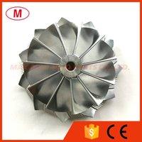 K04 48.50 / 61.00mm 11 + 0 lames Performance Performance Turbocompresseur en aluminium 2618 / Fraisage / Turbo Billette Compressor Roue pour cartouche / Chra / Core
